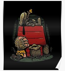 Charlie Brown t shirt Poster