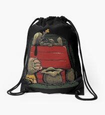 Charlie Brown t shirt Drawstring Bag