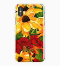 Sunflowers and Geraniums iPhone Case/Skin