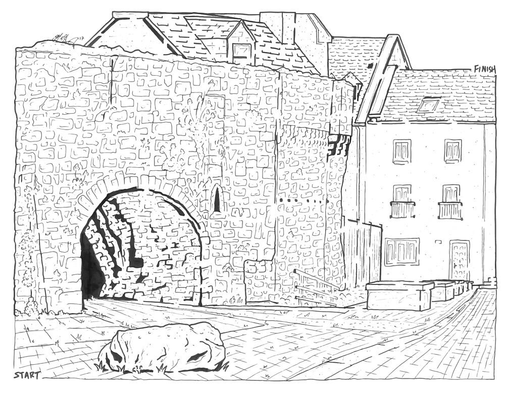 Spanish Arch Maze (Galway, Ireland) by matthewsmazes