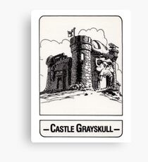 He-Man - Castle Grayskull - Trading Card Design Canvas Print