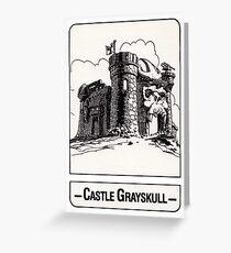 He-Man - Castle Grayskull - Trading Card Design Greeting Card