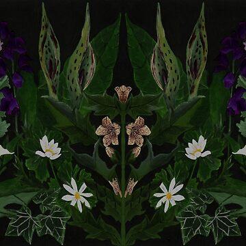 The Poison Garden - Datura and Henbane  by EldrumTree