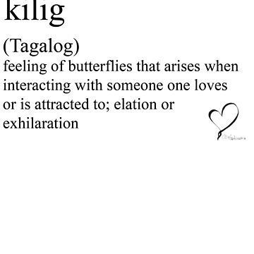 kilig (Tagalog) statement tees & accessories by Rendezvousmag