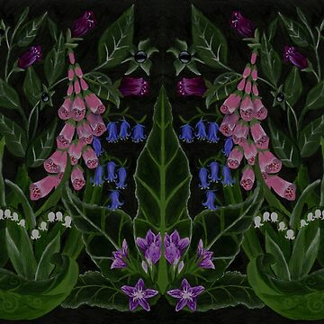 The Poison Garden - Mandrake and Foxglove by EldrumTree