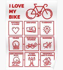 I Love My Bike Poster