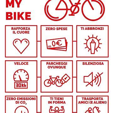 I Love My Bike by rapidograph