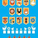 Mahabharata - Pandava Banners by artkarthik