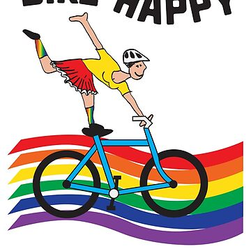 Bike Happy is a fun and whimsical Summer design. by FitWit