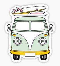 VW Van Glänzender Sticker