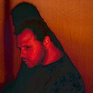 Self Portrait (Redbubble's Red Demon) by Michael  Brooks