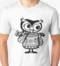 Shy owl with a flower T-Shirt