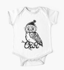 Clever owl wearing glasses One Piece - Short Sleeve