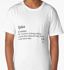 fjaka (Coatian) statement tee & accessories Long T-Shirt