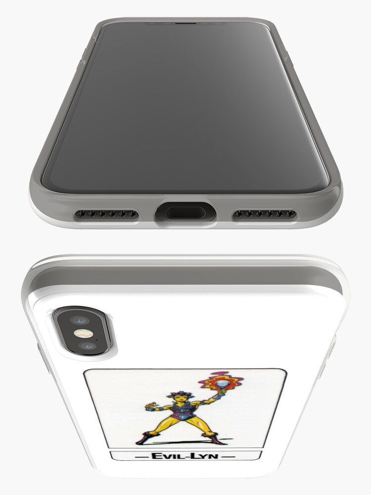 Alternate view of He-Man - Evil-Lyn - Trading Card Design iPhone Case & Cover