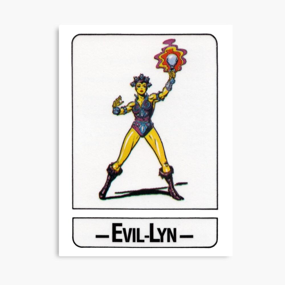 He-Man - Evil-Lyn - Trading Card Design Canvas Print