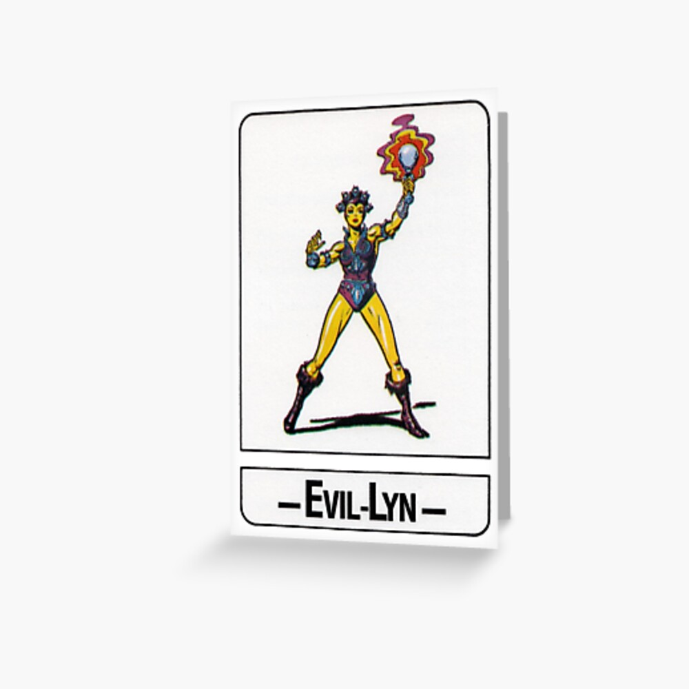 He-Man - Evil-Lyn - Trading Card Design Greeting Card