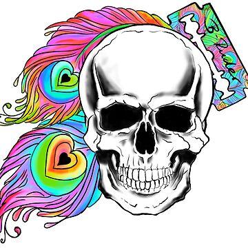 Skull peacock  by B-ruder