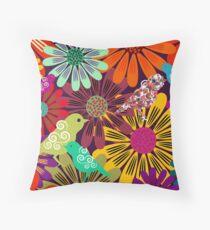 Brazil Floral  Throw Pillow
