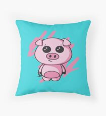 Squiggles - Baby Piglet Throw Pillow