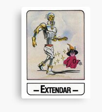 He-Man - Extendar - Trading Card Design Canvas Print