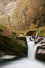 Autumn waterfall in Cheran river by Patrick Morand