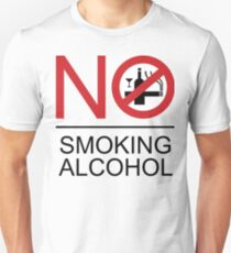 NO Smoking Alcohol Sign T-Shirt