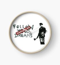 Banksy Follow Your Dreams Cancelled Clock