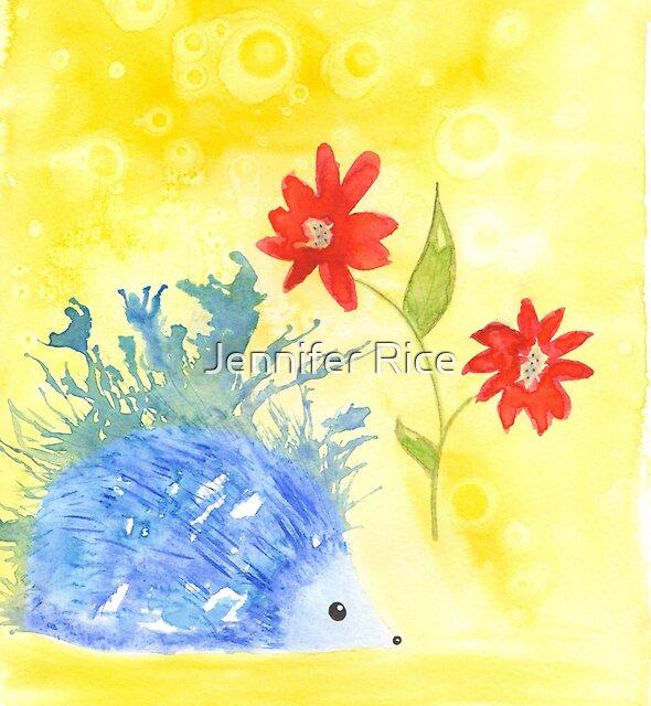 Watercolor Hedgehog by BlueDoorStudio