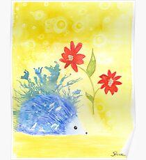 Watercolor Hedgehog Poster