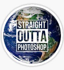Staight outta photoshop Sticker
