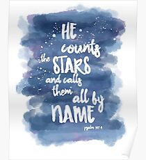 He Counts the Stars and Calls them All By Name Poster