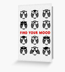 Emotional owls. Find your mood Greeting Card