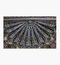 Blue & Yellow Tiles Photographic Print