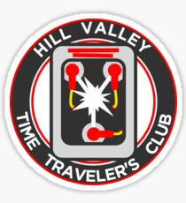 Hill Valley Time Traveler's Club Sticker