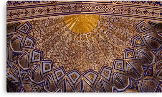 Ceiling, Amur Timur Mausoleum, Samarkand by Gillian Anderson LAPS, AFIAP