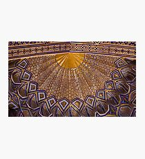 Ceiling, Amur Timur Mausoleum, Samarkand Photographic Print
