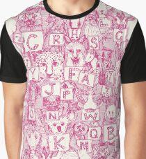 animal abc pink ivory Graphic T-Shirt