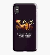 Monkey Island - Rubber chicken with a pulley in the middle iPhone Case/Skin