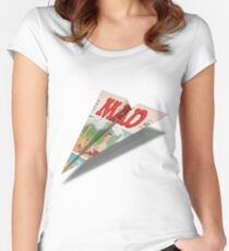 162 MAD Paper Airplane Women's Fitted Scoop T-Shirt