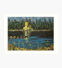 The Yellow Lighthouse Art Print