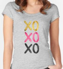 Glamorous XO's  Women's Fitted Scoop T-Shirt