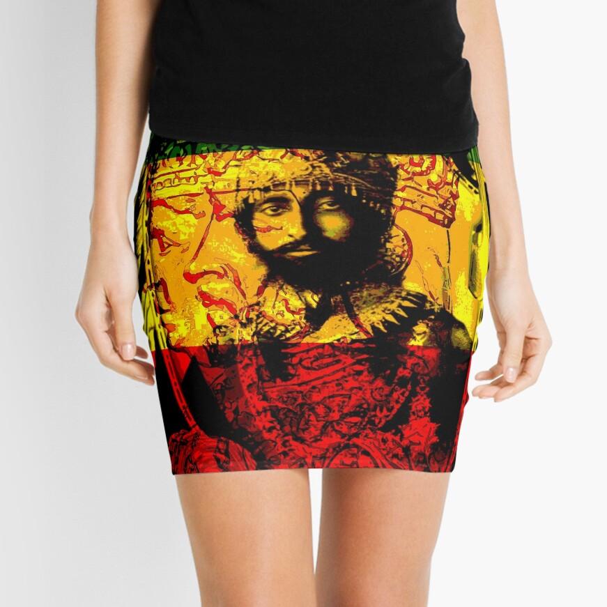Rasta Haile Selassie Natural Mystic Lion of Judah Mini Skirt