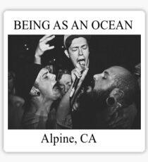 being as an ocean edit Sticker