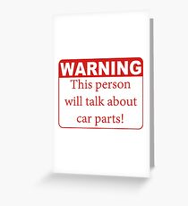 WARNING Greeting Card