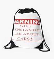 warning cars Drawstring Bag