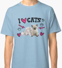 I Love Cats Cute design Classic T-Shirt