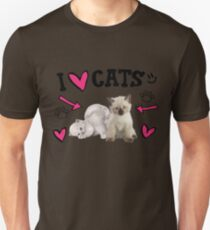 I Love Cats Cute design T-Shirt