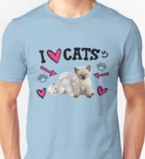 I Love Cats Cute design Unisex T-Shirt