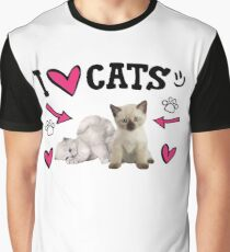 I Love Cats Cute design Graphic T-Shirt